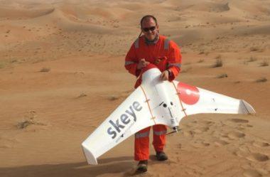 O uso de drones para pesquisa no Deserto Abu Dhabi