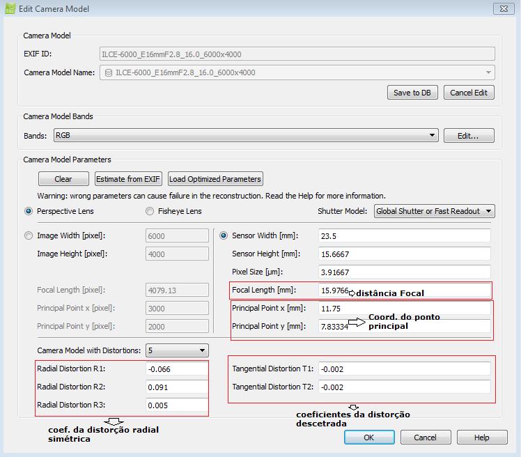 Figura 3: Preenchimentos dos POI no Pix4d Mapper Pro