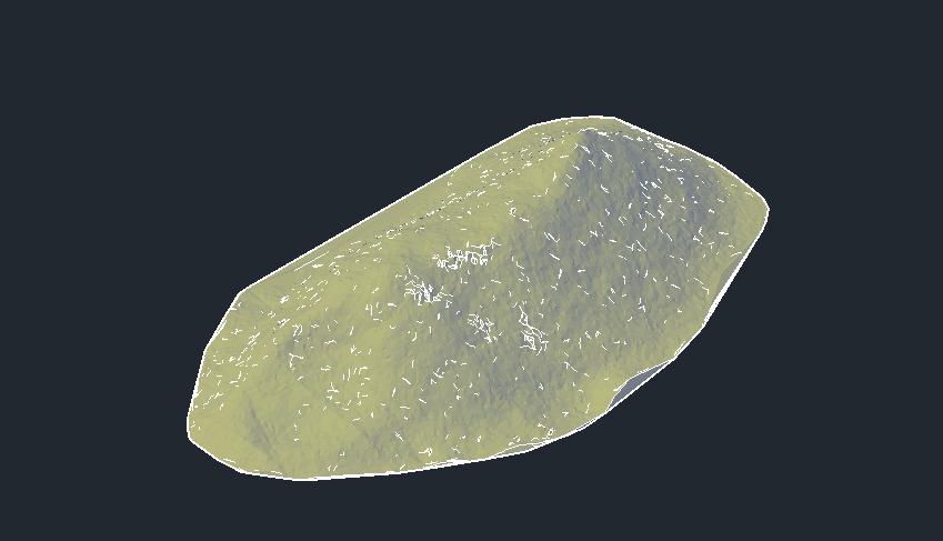 Modelo de superfície criado à partir da nuvem de pontos.