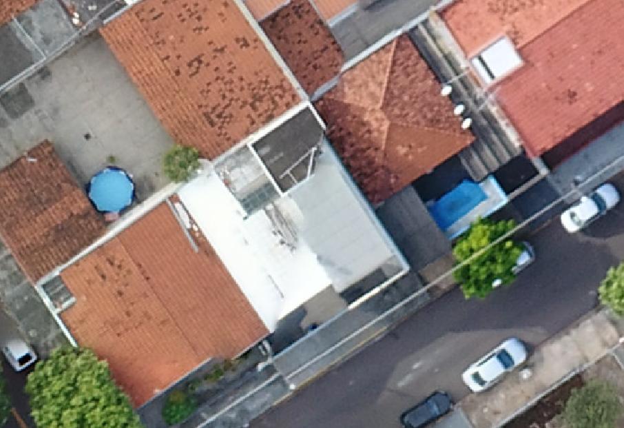 Mapeamento Aéreo Urbano com distorções