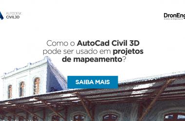 Como o AutoCad Civil 3D pode ser usado em projetos de mapeamento?