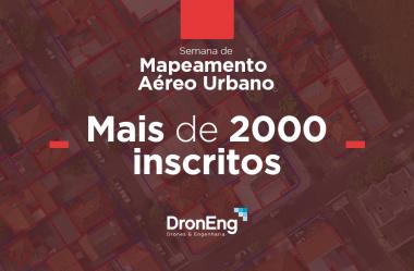 Encerra a semana de mapeamento aéreo urbano com mais de 2.000 inscritos