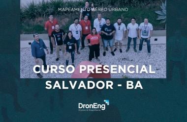 A Droneng voou até Salvador para ministrar seu curso presencial