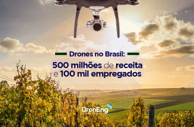 Drones no Brasil: 500 milhões de receita e 100 mil empregos